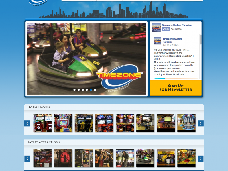 Timezone Goldcoast Website